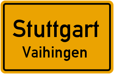 Straßenverzeichnis Stuttgart Vaihingen