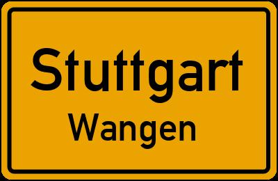 Ortsschild Stuttgart Wangen