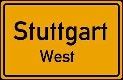 Straßenverzeichnis Stuttgart West