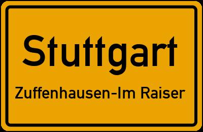 Straßenverzeichnis Stuttgart Zuffenhausen-Im Raiser