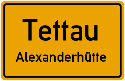 Friedhofsweg in TettauAlexanderhütte