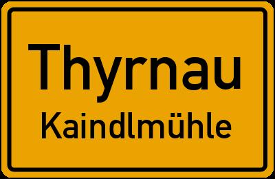 Ortsschild Thyrnau Kaindlmühle