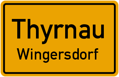 Ortsschild Thyrnau Wingersdorf