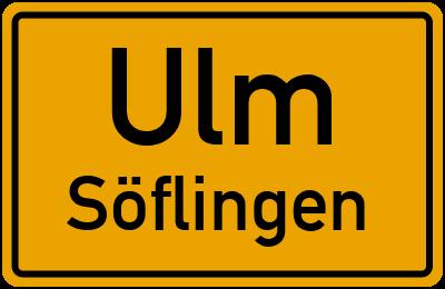 Ortsschild Ulm Söflingen