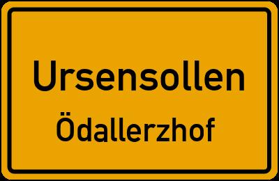 Ortsschild Ursensollen Ödallerzhof