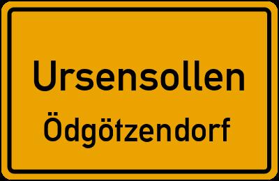 Ortsschild Ursensollen Ödgötzendorf
