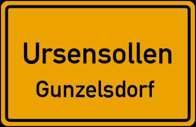 Ortsschild Ursensollen Gunzelsdorf