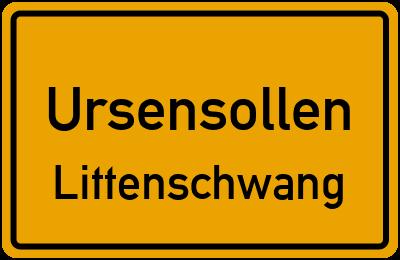Ortsschild Ursensollen Littenschwang