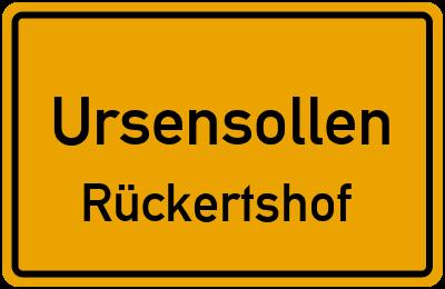 Ortsschild Ursensollen Rückertshof