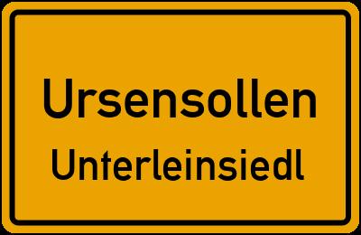 Ortsschild Ursensollen Unterleinsiedl