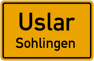 Straßenverzeichnis Uslar Sohlingen