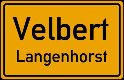 Straßenverzeichnis Velbert Langenhorst