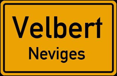Ortsschild Velbert Neviges