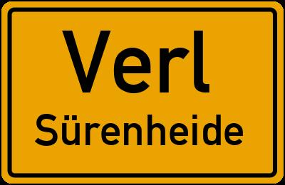 Straßenverzeichnis Verl Sürenheide