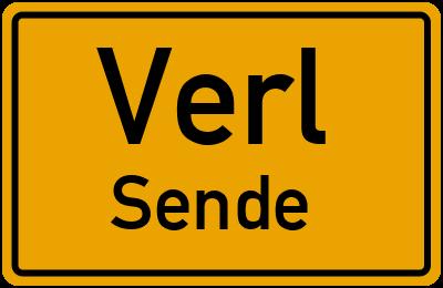 Straßenverzeichnis Verl Sende