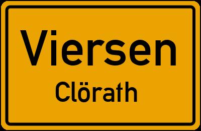 Ortsschild Viersen Clörath