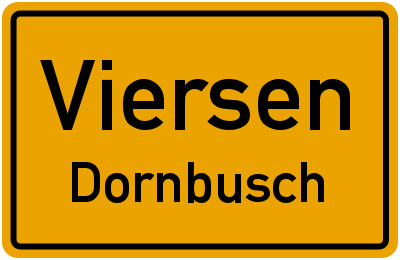 Ortsschild Viersen Dornbusch