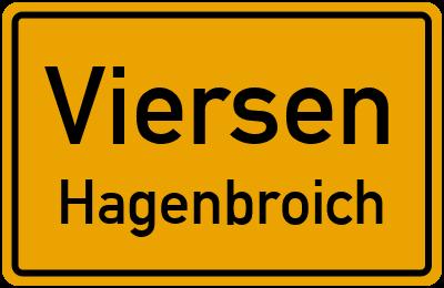 Ortsschild Viersen Hagenbroich
