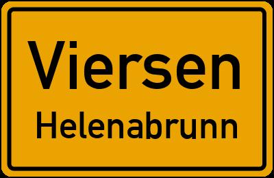 Ortsschild Viersen Helenabrunn