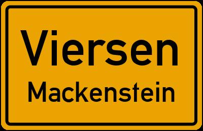 Ortsschild Viersen Mackenstein