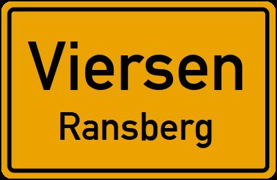 Ortsschild Viersen Ransberg