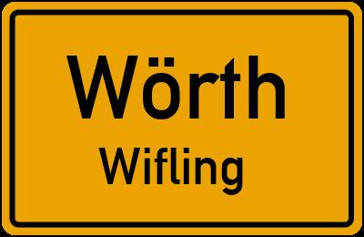 Ortsschild Wörth Wifling