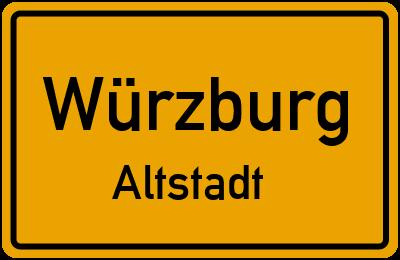 Straßenverzeichnis Würzburg Altstadt