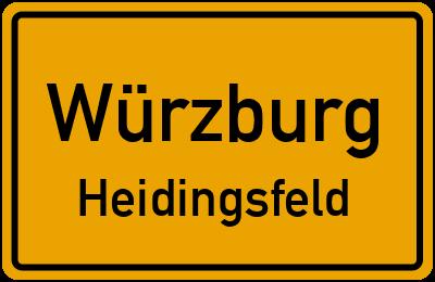Straßenverzeichnis Würzburg Heidingsfeld