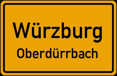 Straßenverzeichnis Würzburg Oberdürrbach