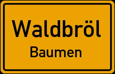 Händelstraße in WaldbrölBaumen