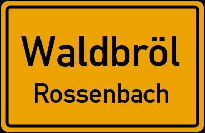 Hülbachweg Waldbröl Rossenbach