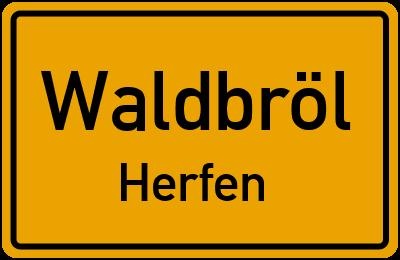 Baumener Straße in WaldbrölHerfen