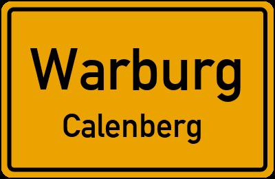 Ortsschild Warburg Calenberg