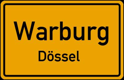 Ortsschild Warburg Dössel