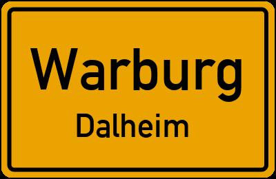 Ortsschild Warburg Dalheim
