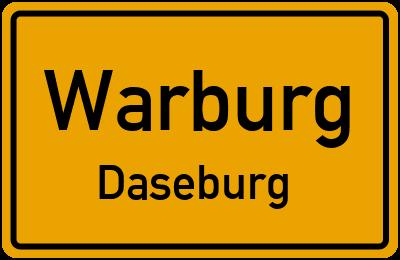 Ortsschild Warburg Daseburg