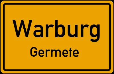 Ortsschild Warburg Germete