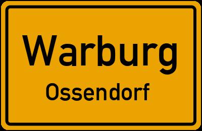 Ortsschild Warburg Ossendorf