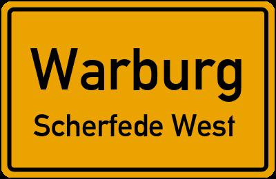 Ortsschild Warburg Scherfede West