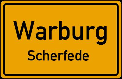 Ortsschild Warburg Scherfede