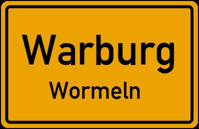 Ortsschild Warburg Wormeln