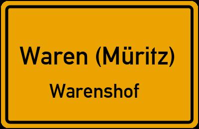 Amselweg in Waren (Müritz)Warenshof