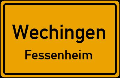 Ortsschild Wechingen Fessenheim