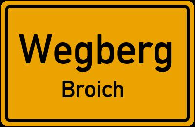 Ortsschild Wegberg Broich