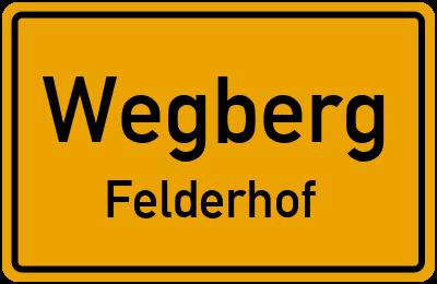 Ortsschild Wegberg Felderhof