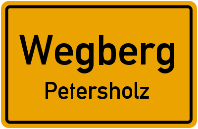 Ortsschild Wegberg Petersholz