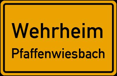 Forsthausstraße in WehrheimPfaffenwiesbach