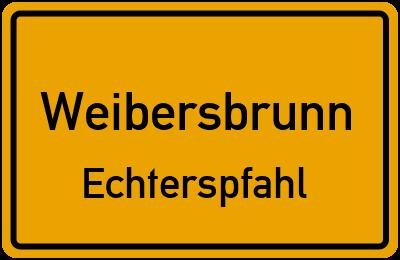 Ortsschild Weibersbrunn Echterspfahl