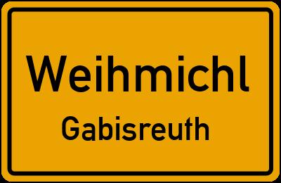Ortsschild Weihmichl Gabisreuth