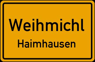 Ortsschild Weihmichl Haimhausen
